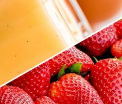 Mixgetränk Erdbeer Eierlikör Cocktail