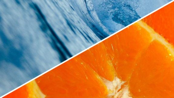 Blue Curacao Eierlikör mit Wodka und Orangensaft