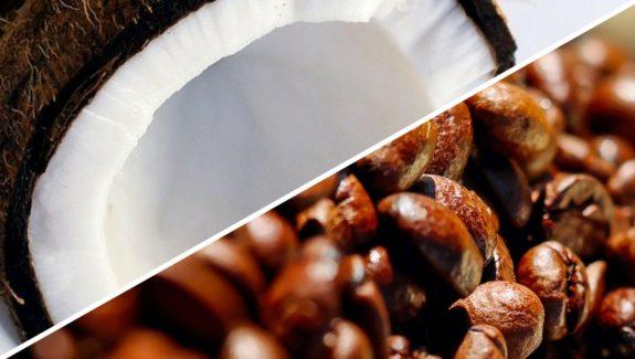 Kokos Eierlikör mit Espresso und Milchschaum