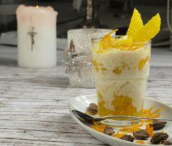 Orangen Eierlikör mit Blue Curacao und Zitroneneis