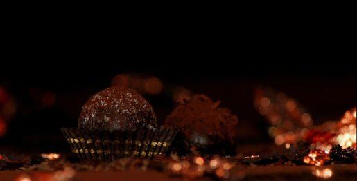 Eierlikör Pralinen mit dunkler Schokolade